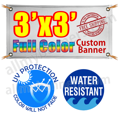 3x3 Custom banners product image