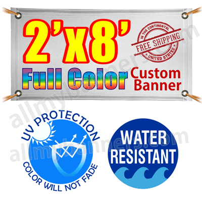 2x8 Custom banners product image