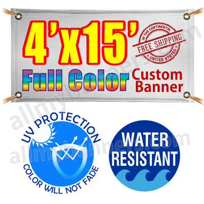 4x15 Custom banners product image