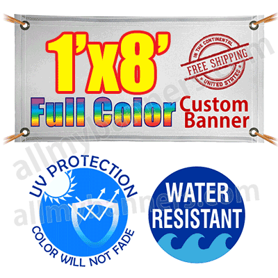 1x8 Custom banners product image