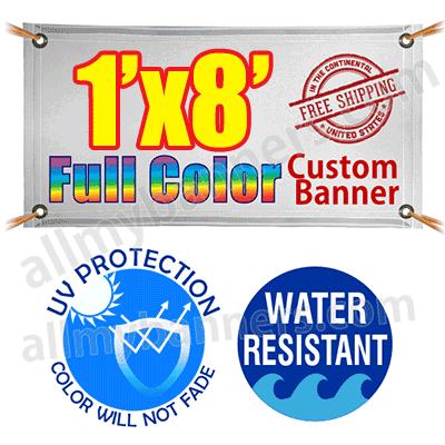 1x8 Custom banners product image